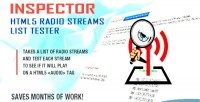 Html5 inspector radio tester list streams