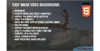 Image easy video background
