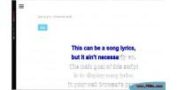 Lyrics jquery displayer