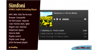 Responsive simfoni html5 player streaming audio
