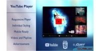 Responsive yotup youtube for player playlists & videos