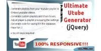 Utube ultimate jquery generator
