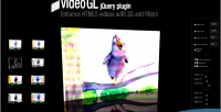 Videogl 3d html5 video filters with player