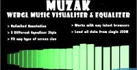 Webgl muzak equalizer visualiser music