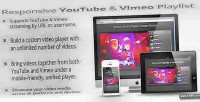 Youtube responsive vimeo playlist