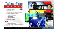 Youtube & vimeo video playlist with player