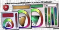 A chromoselector jquery plugin picker color