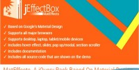 A jquery pack based design material on a