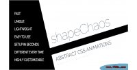 Abstract shapechaos animations shape css3