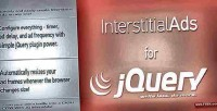 Ads interstitial for jquery
