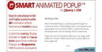 Animated smart popup