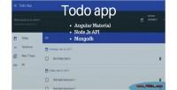 App todo using angular with material mongodb & nodejs
