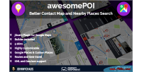 Better awesomepoi contact map nearby & places plugin jquery search