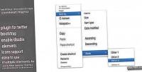 Bootstrap twitter context menu