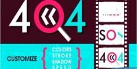 Code error svg animated 404