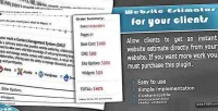 Cost website estimator clients your for