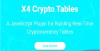 Crypto x4 plugin javascript tables