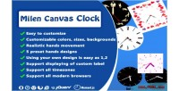 Customizzable fully canvas clock