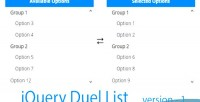 Dual jquery list