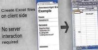 Excel javascript creator