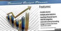 Financial webgen budget planner