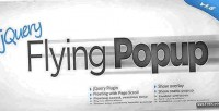 Flying jquery popup