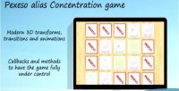 Game concentration pexeso