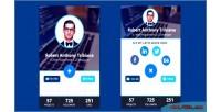 Interactive html5 widget profile flat