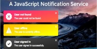 Javascript a notification service