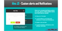 Javascript alnojs alerts notifications