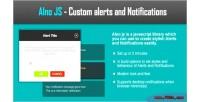 Javascript alnojs alerts notifications