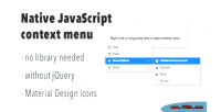Javascript native context menu