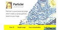 Javascript particler plugin