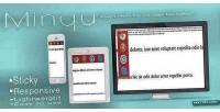 Minqu jquery menu for navigation page on
