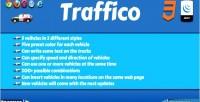 Jquery traffico animated plugin trucks cars