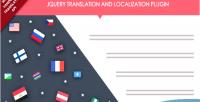 Jquery translation & localization plugin with api translate yandex