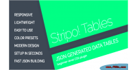 Json stripo generated tables data responsive