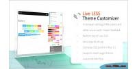 Less live theme customizer