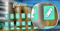 Long flatico shadow generator icon flat