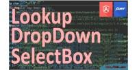 Lookup oiljilookup dropdown selectbox