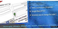 Maps google geolocation with module
