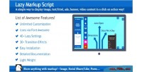 Markup script click on display markup action markup
