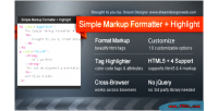 Markup simple formatter highlight
