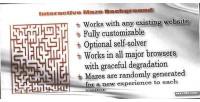 Maze interactive background