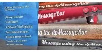 Message jquery bar