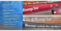 Message jquery bar