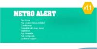 Metro jquery alert