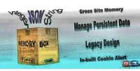 Persistent memorybox data storage
