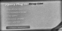 Plug jquery list drop in