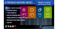 Premium javascript weather widget